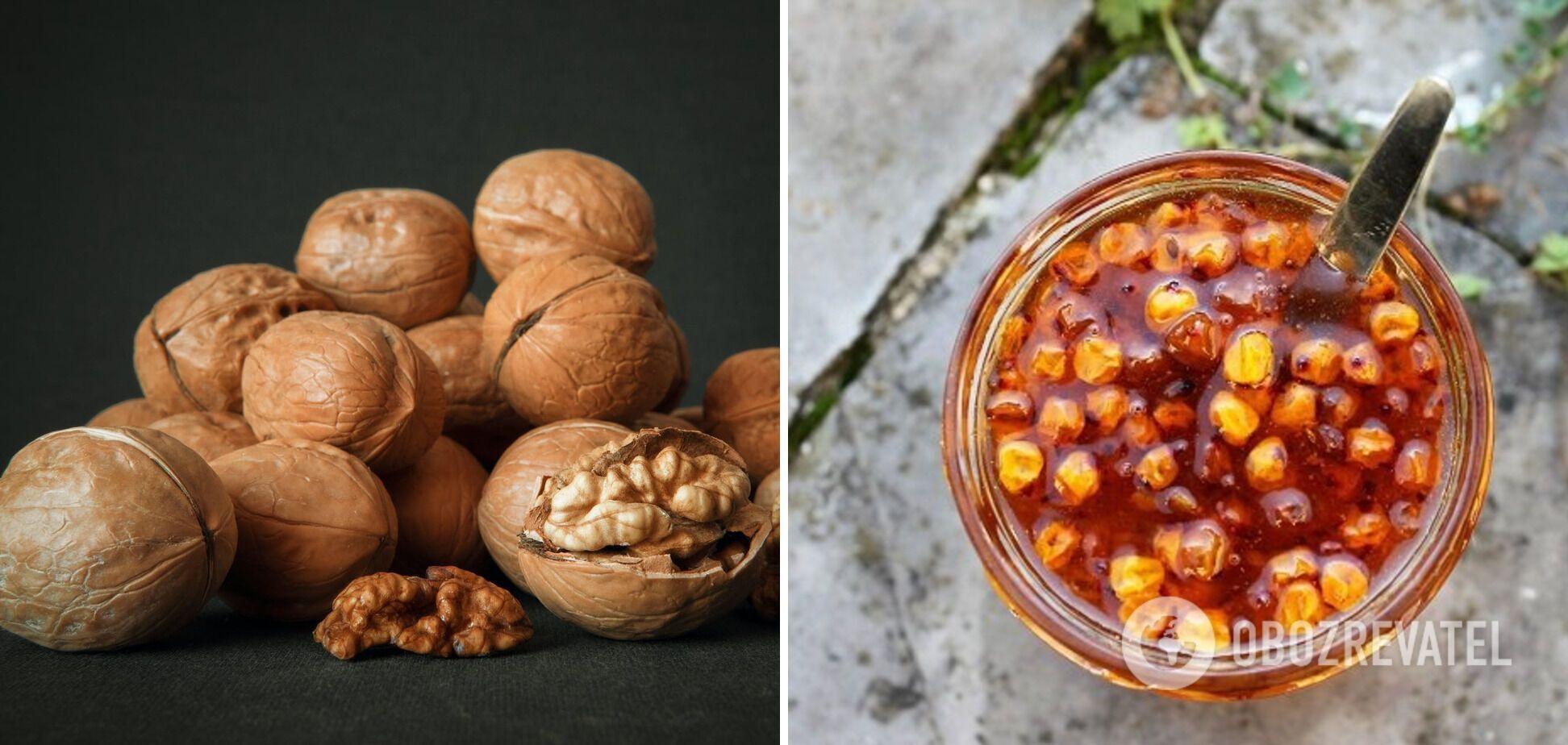 Варення з обліпихи та волоських горіхів