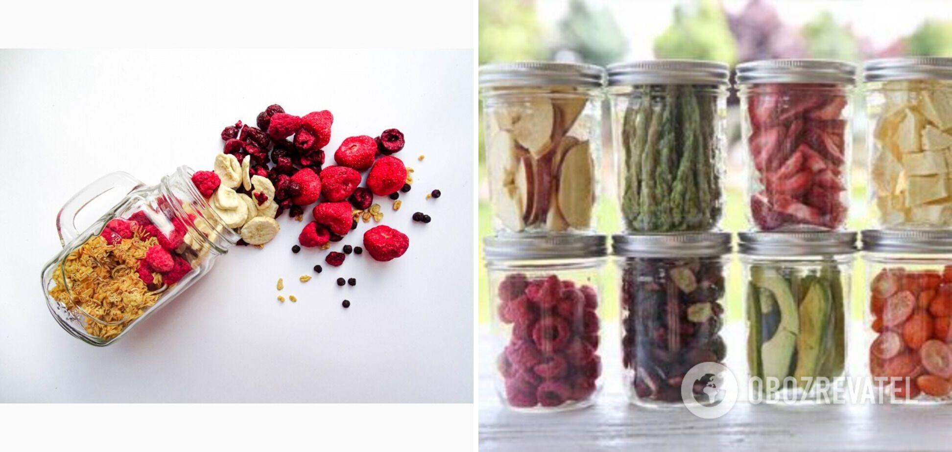 Новітній метод обробки фруктів та овочів – сублімація