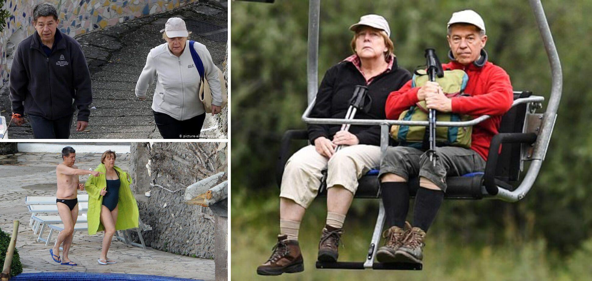 Меркель на отдыхе