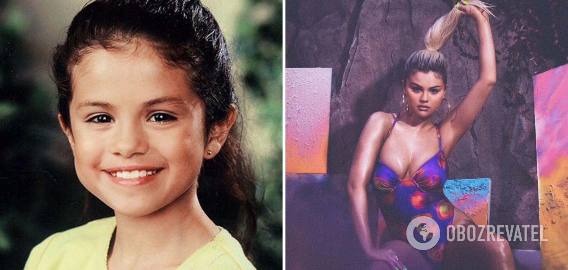 Селена Гомес в дитинстві і зараз