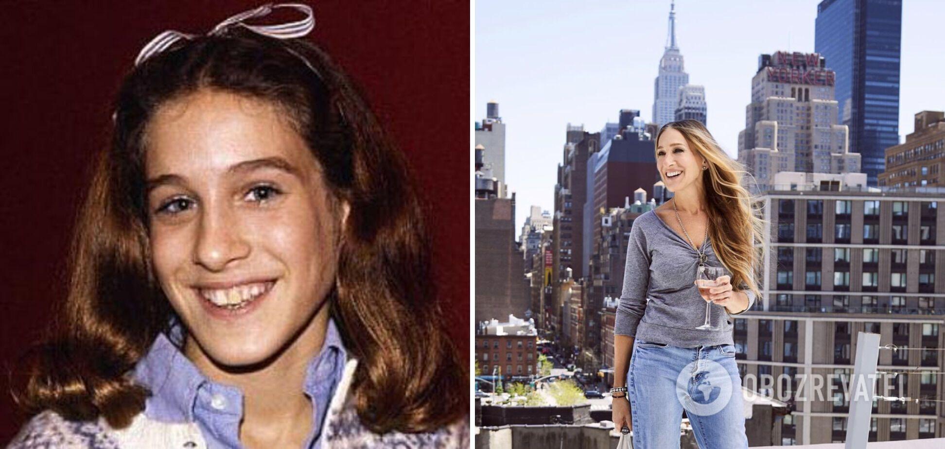 Сара Джессіка Паркер в дитинстві і зараз