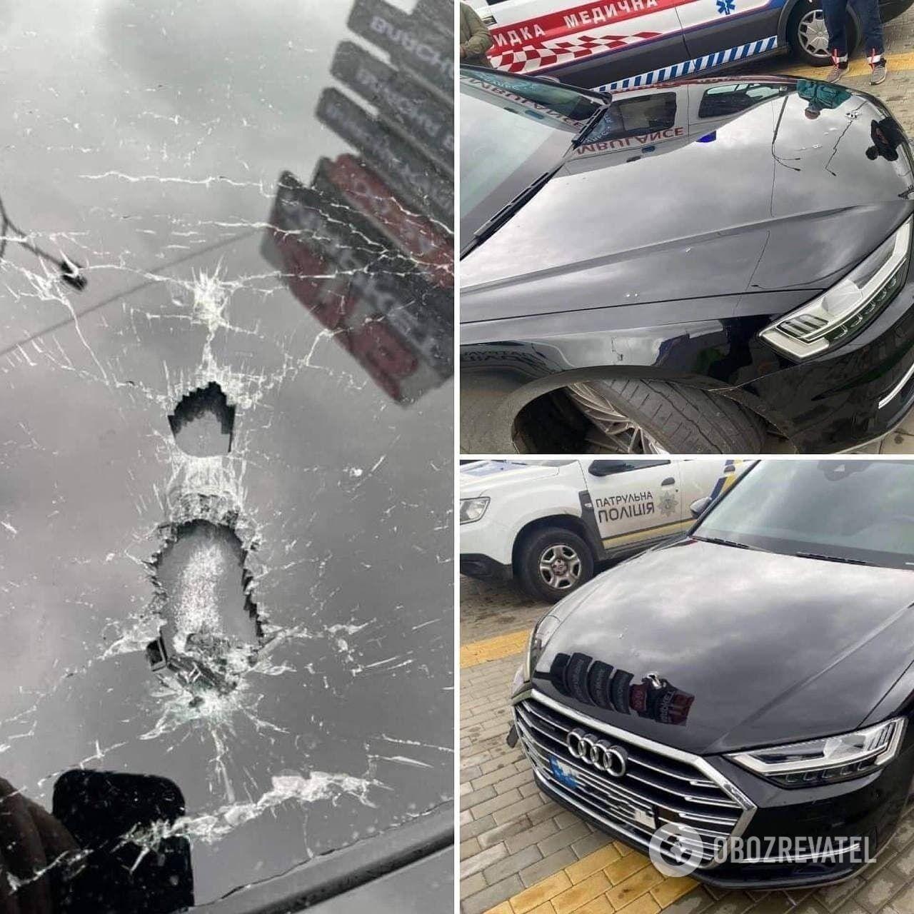 AUDI Шефіра після нападу.