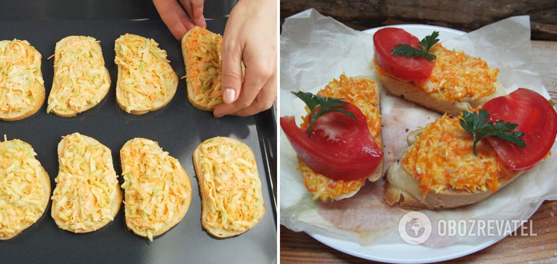 Гарячі бутерброди з морквою