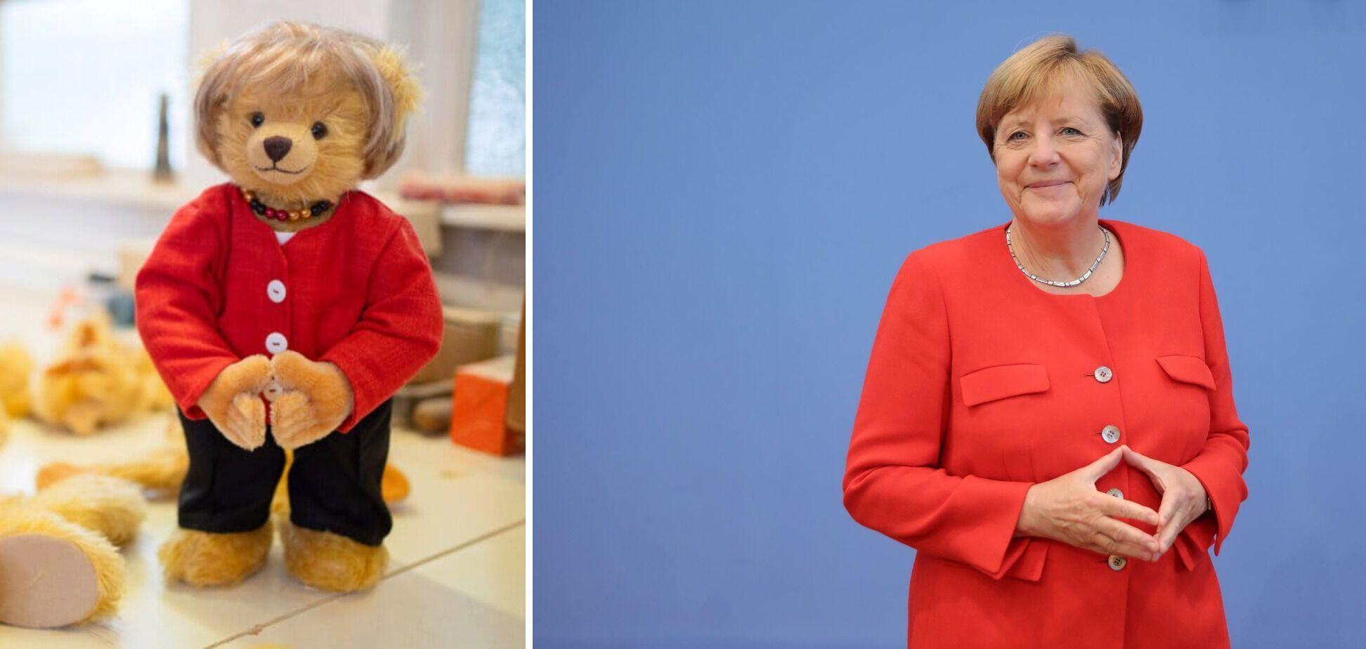 Меркель и плюшевая медведица