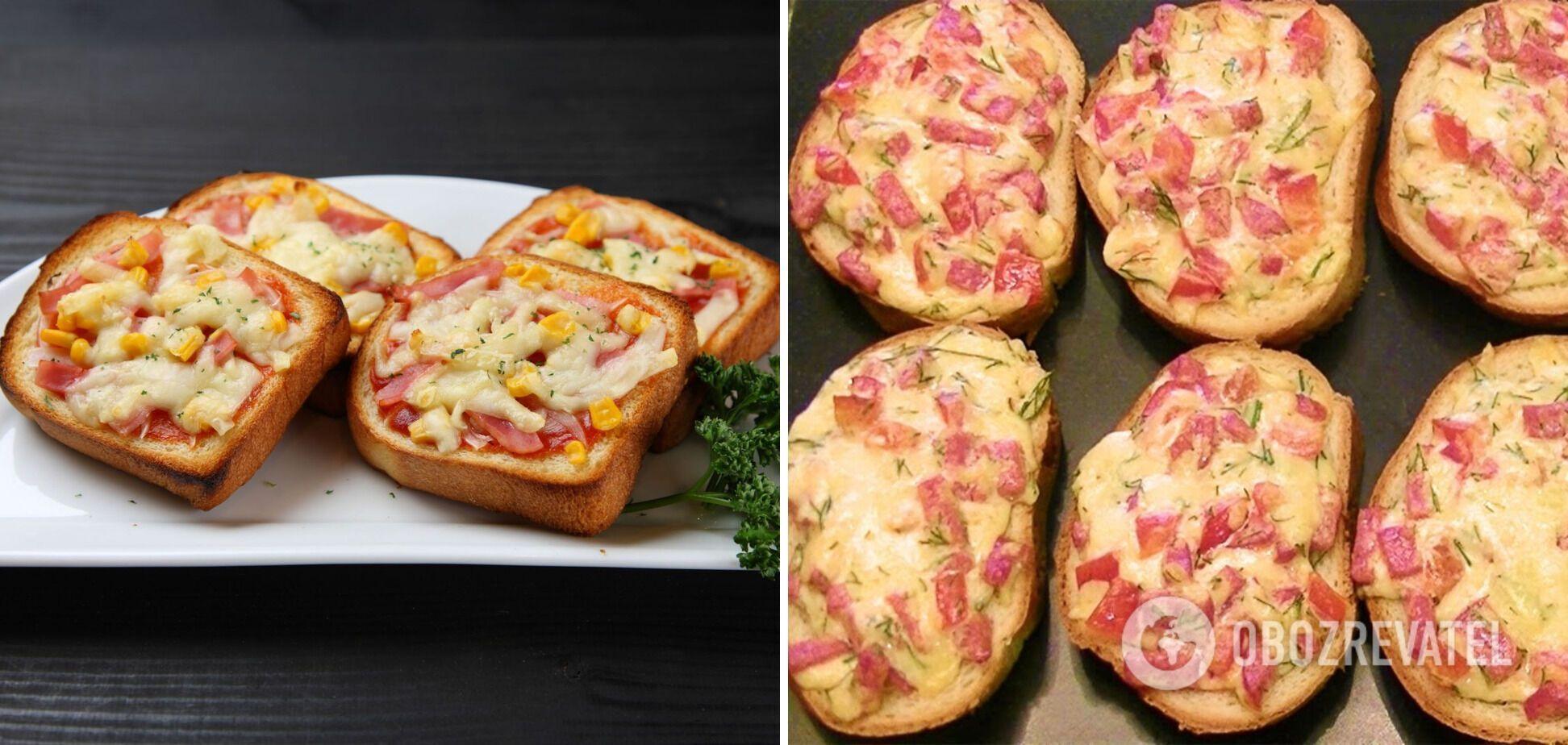"""Гарячі бутерброди """"міні-піца"""""""