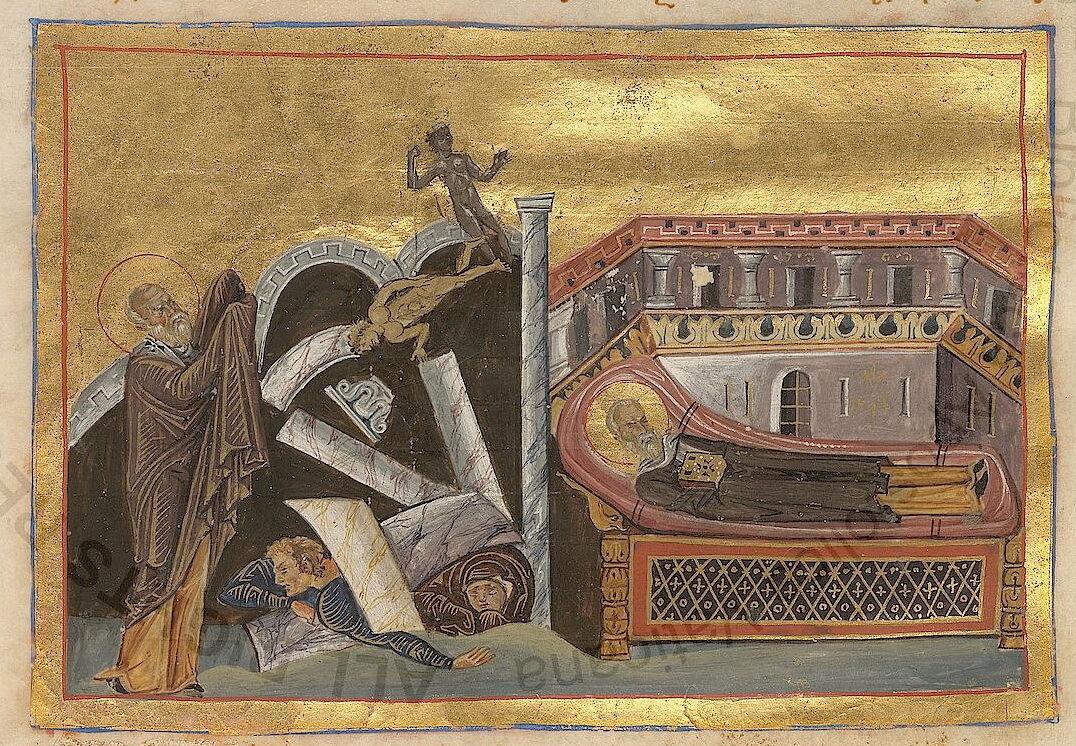 Святий Корнилій якось зруйнував храм язичників в Ськепси