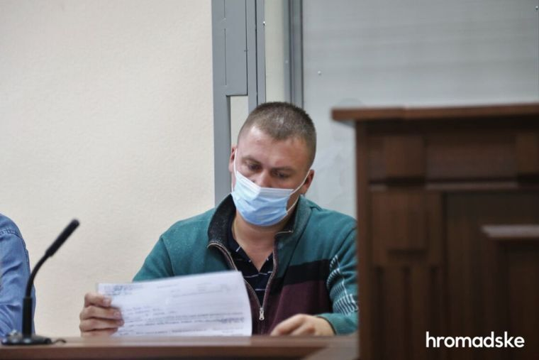 Віктор Вовк у Печерському суді Києва, 27 серпня 2021 року