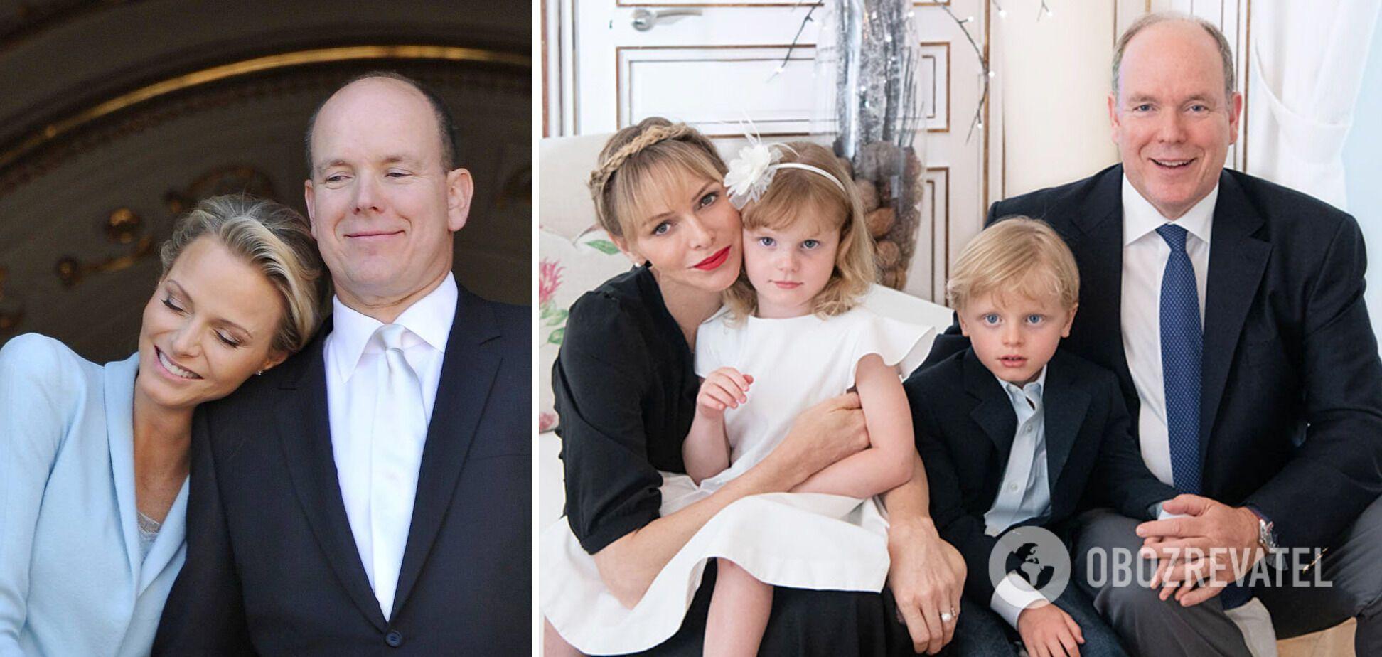 Альберт II, його дружина Шарлен і діти