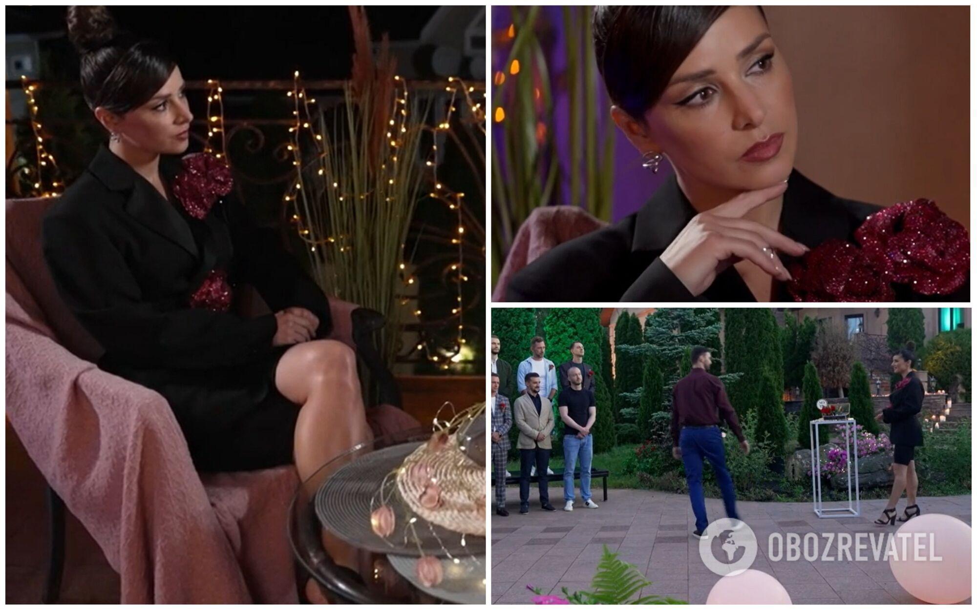 Злата Огнєвіч була на церемонії троянд у чорному маскулінному жакеті з акцентними квітами в тон із помадою