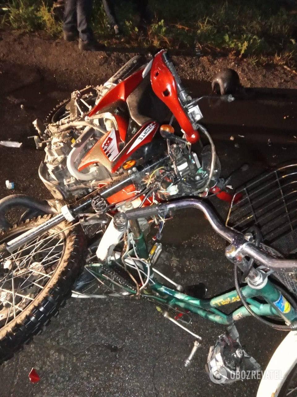 Велосипедистка умерла в больнице.
