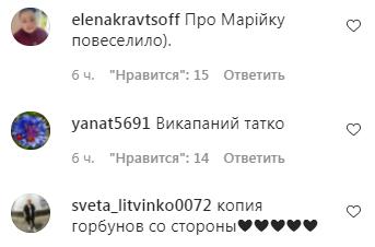 Коментарі користувачів під постом