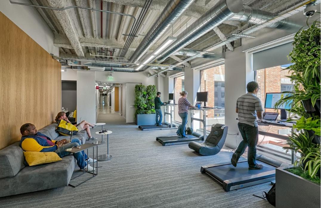 Тренажерний зал для співробітників офісу Google