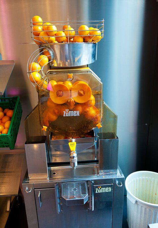 Офіс Google у Цюриху: в їдальні можна попити свіжовичавленого апельсинового соку
