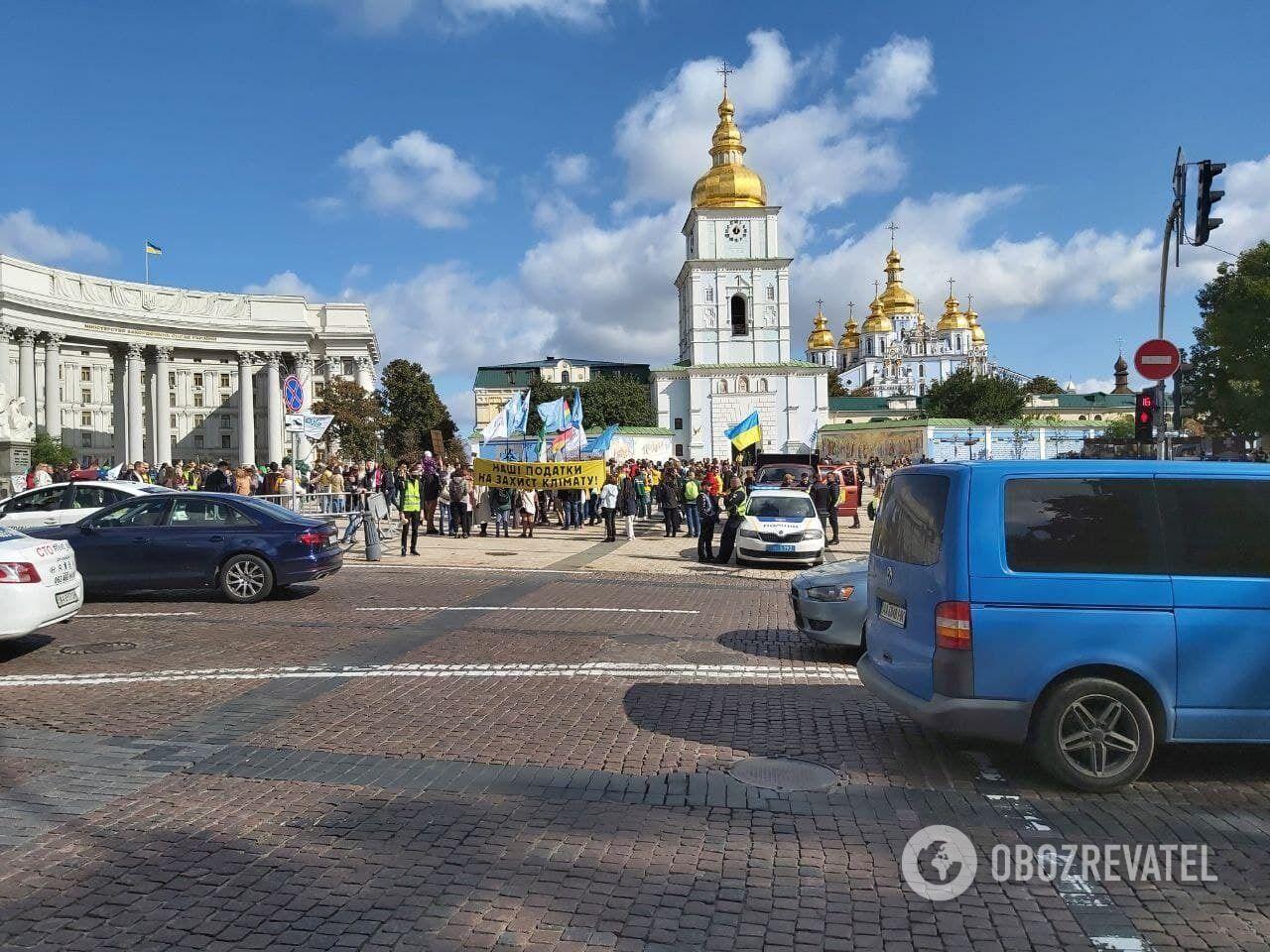 Акція стартувала на Михайлівській площі.