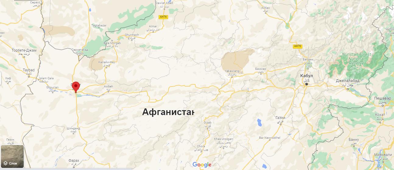 Герат розташований на північному заході Афганістану