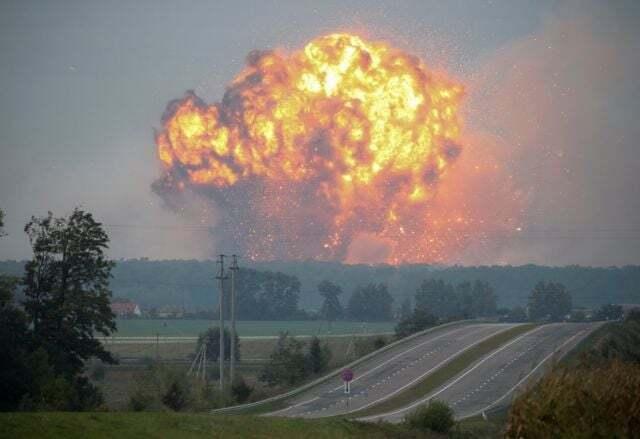 Взрыв на складе в Калиновке