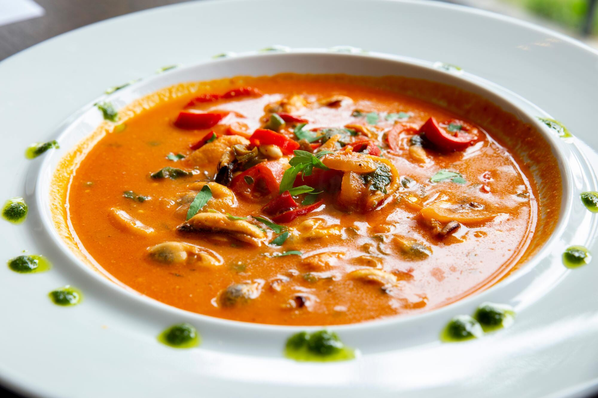 Готовый пряный суп