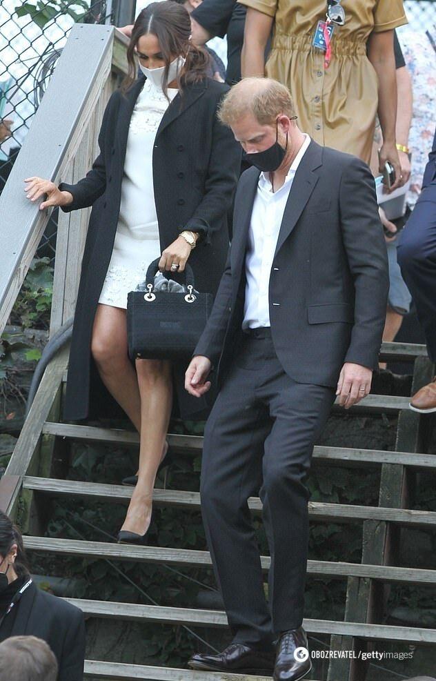 Меган Маркл із сумкою на честь принцеси Діани.