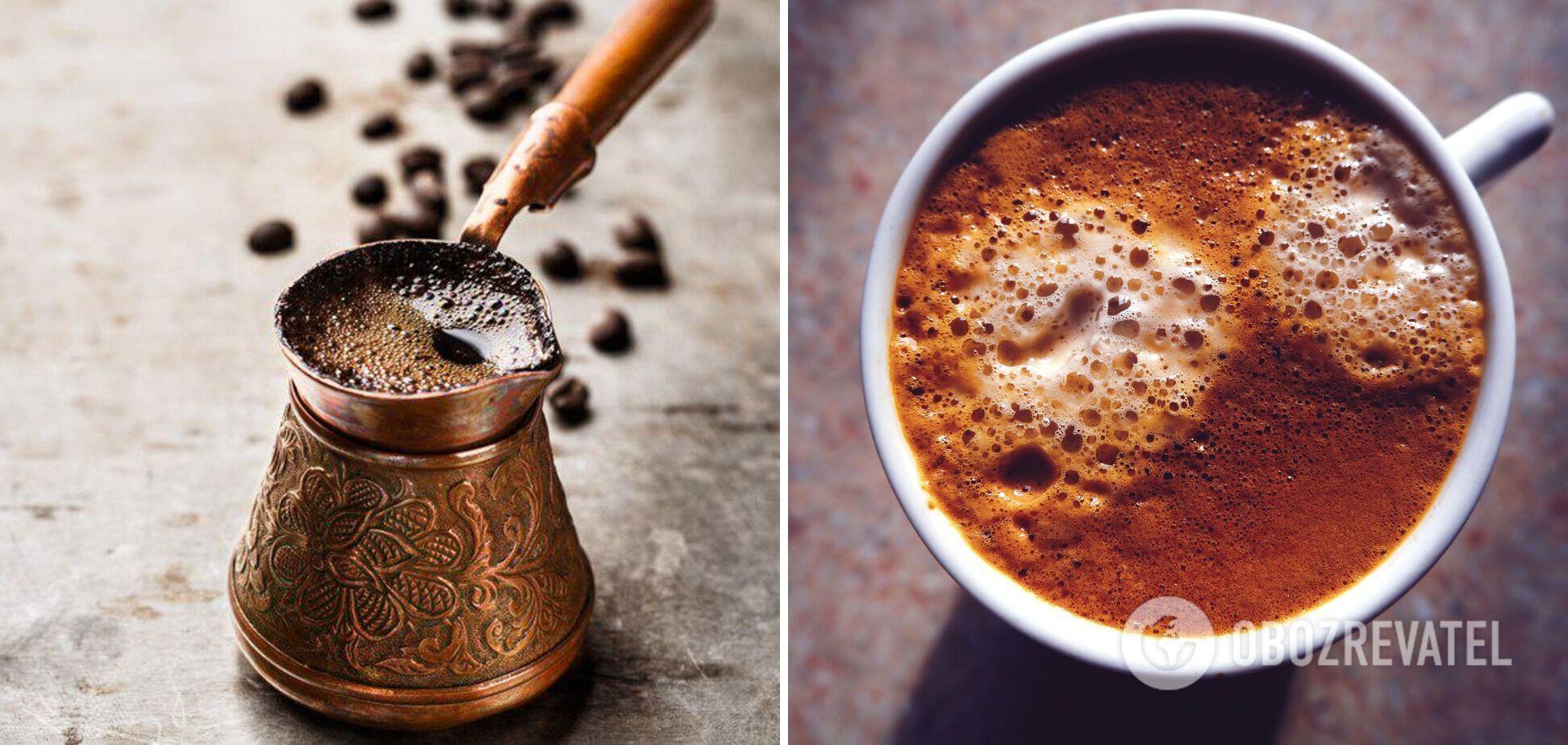 Сваренный в турке кофе