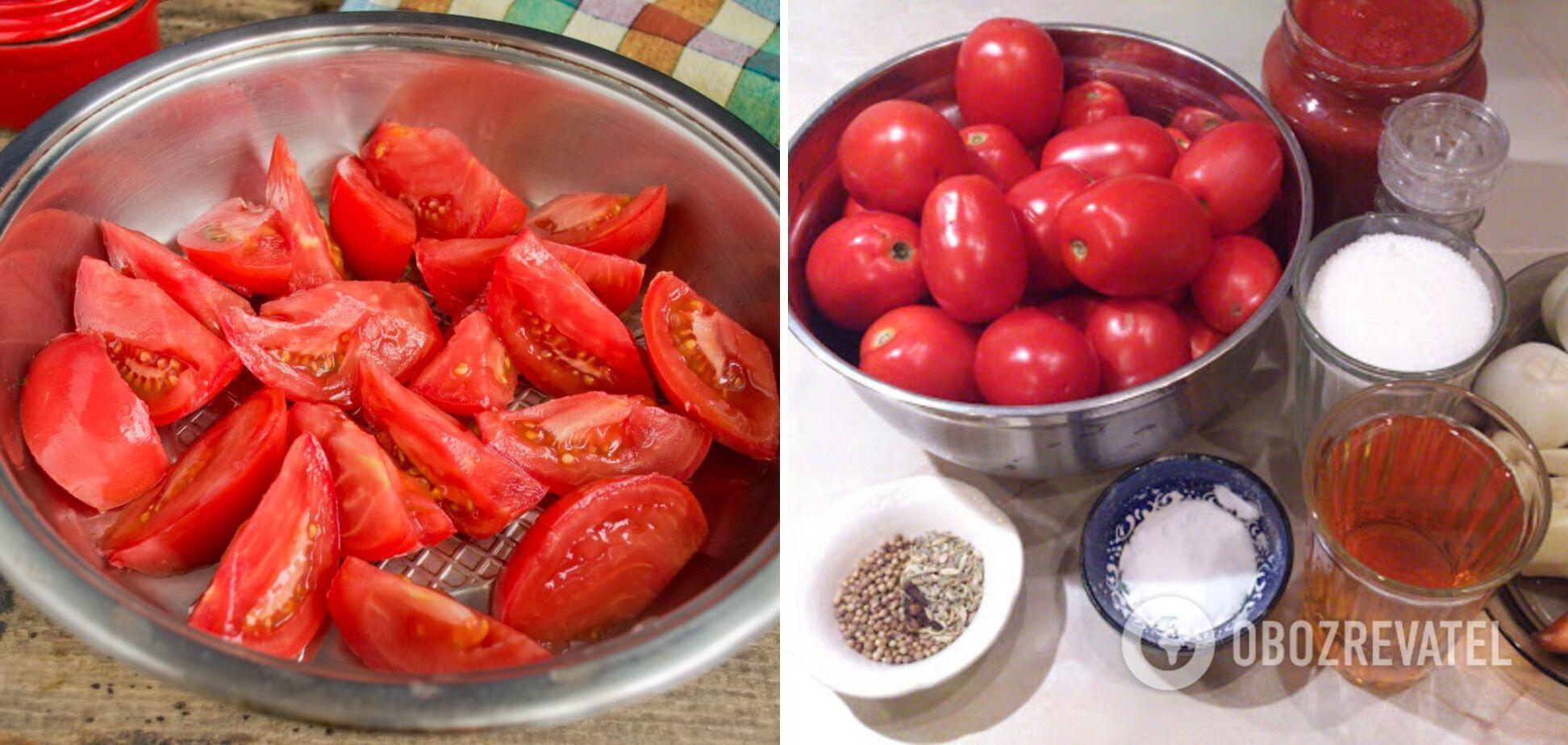 Інгредієнти для кетчупу