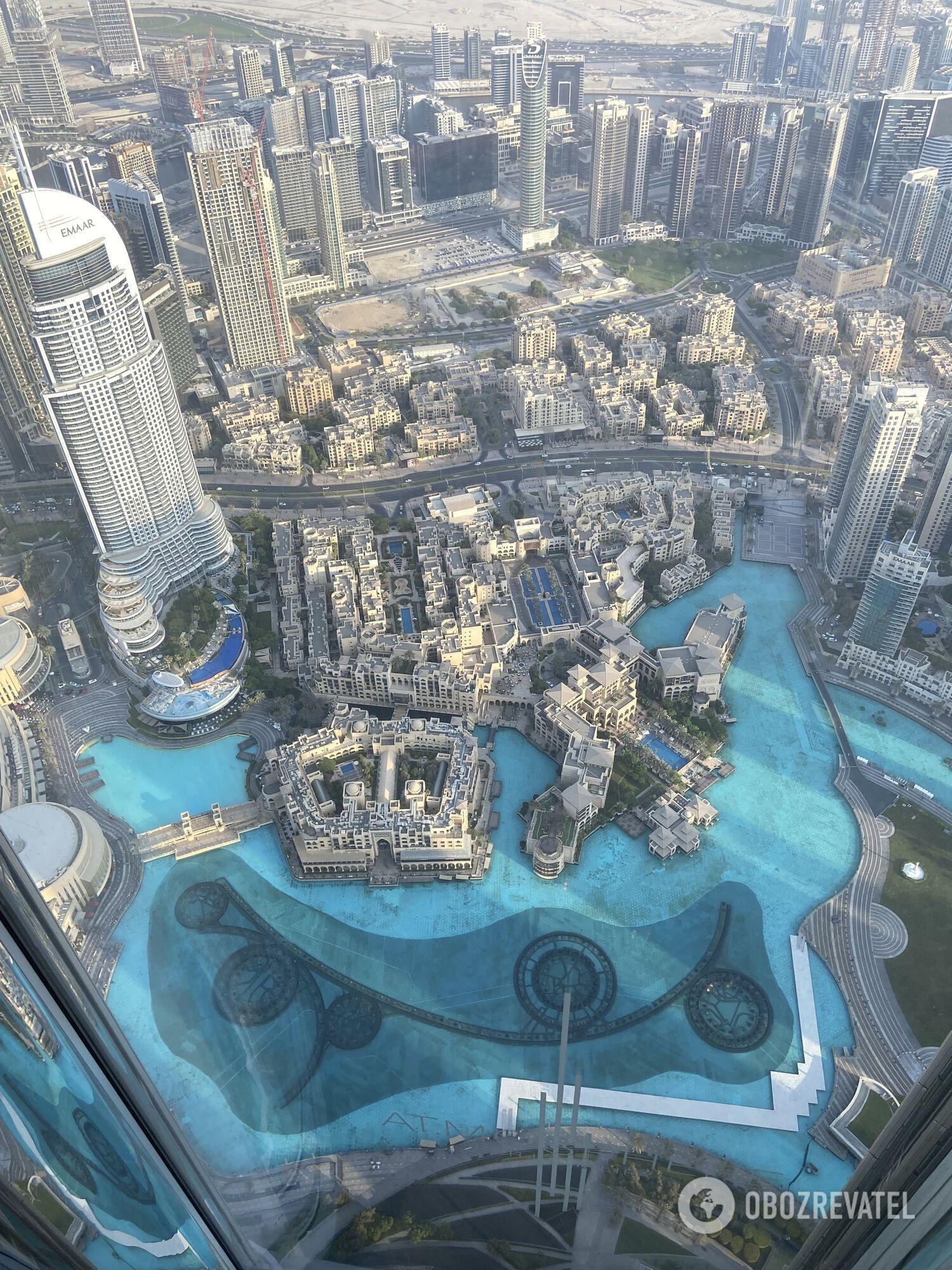 Вид с верхнего этажа Бурдж Халифы.