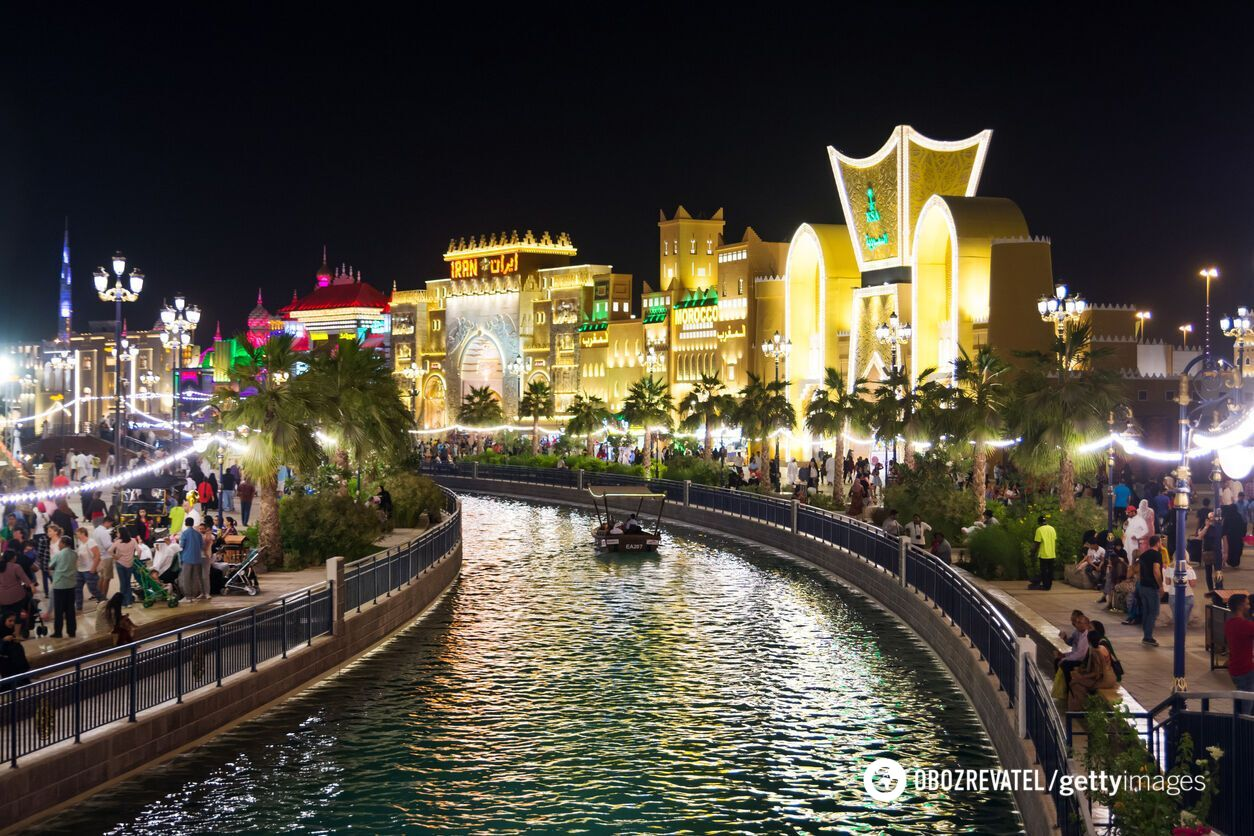 Семейный парк Global Village в Дубае.