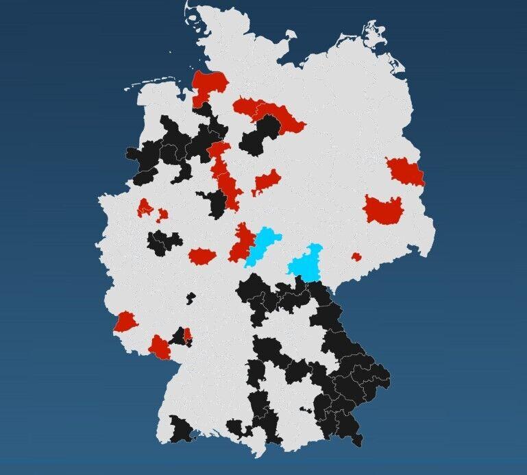 Карта по выборам в Бундестаг