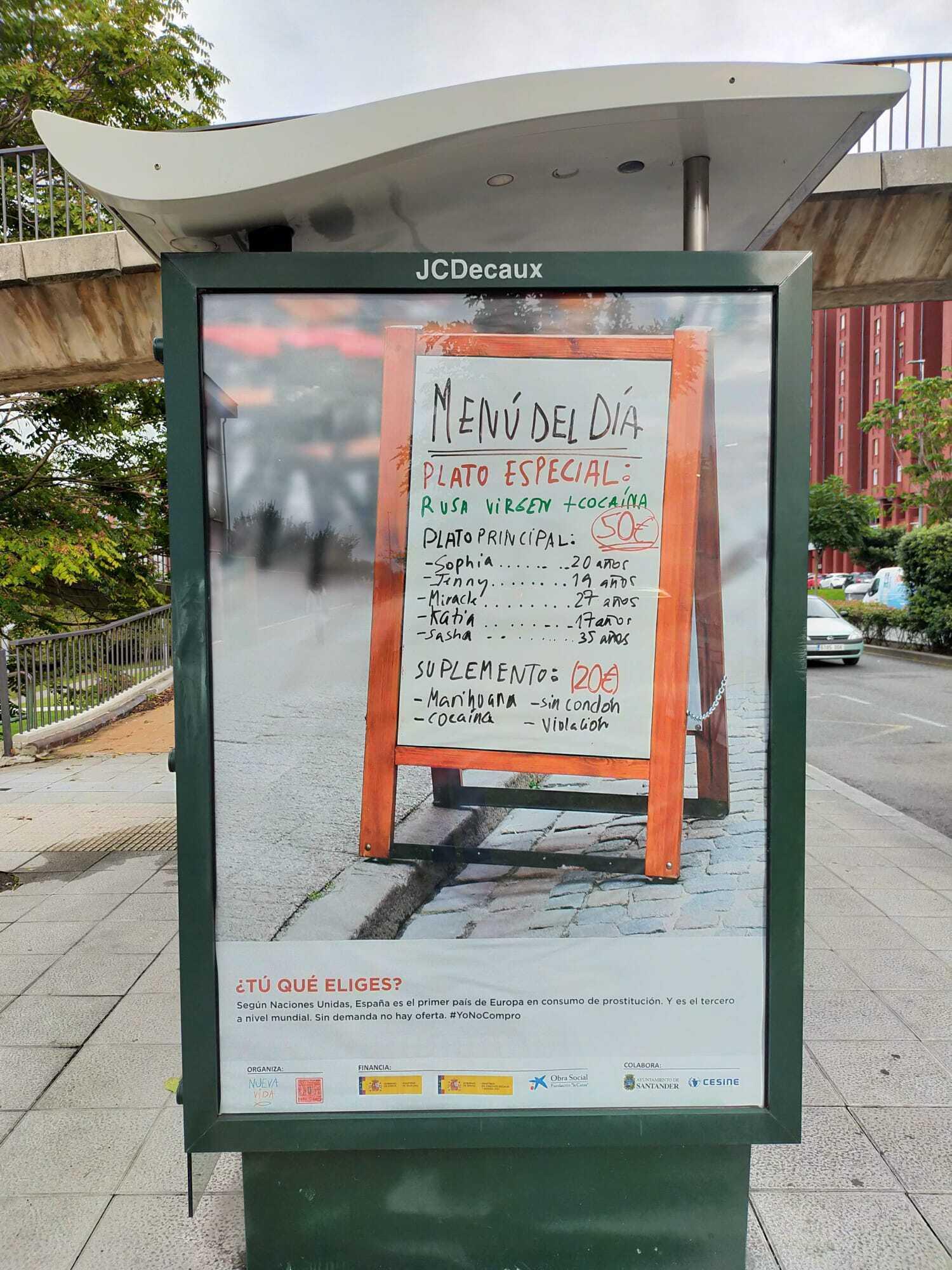 Баннер на улицах Испании