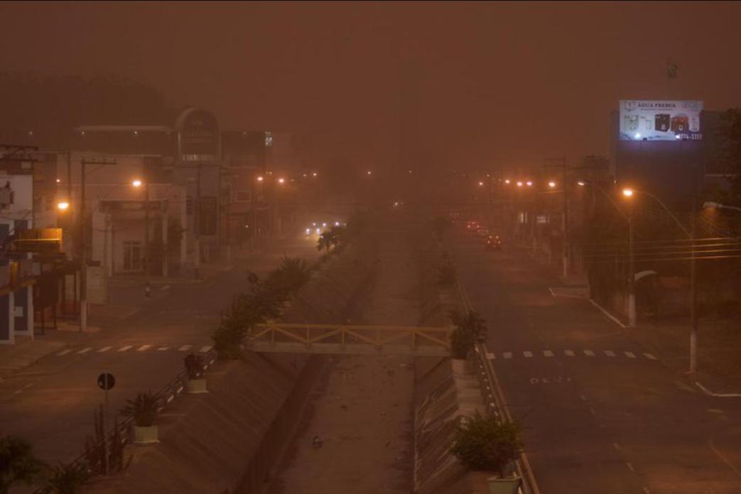 Песчаная буря в городе Франка.