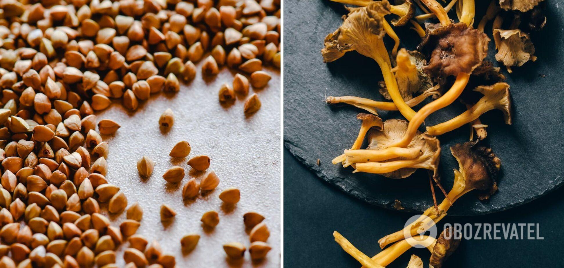 Гречка грибами – лисичками