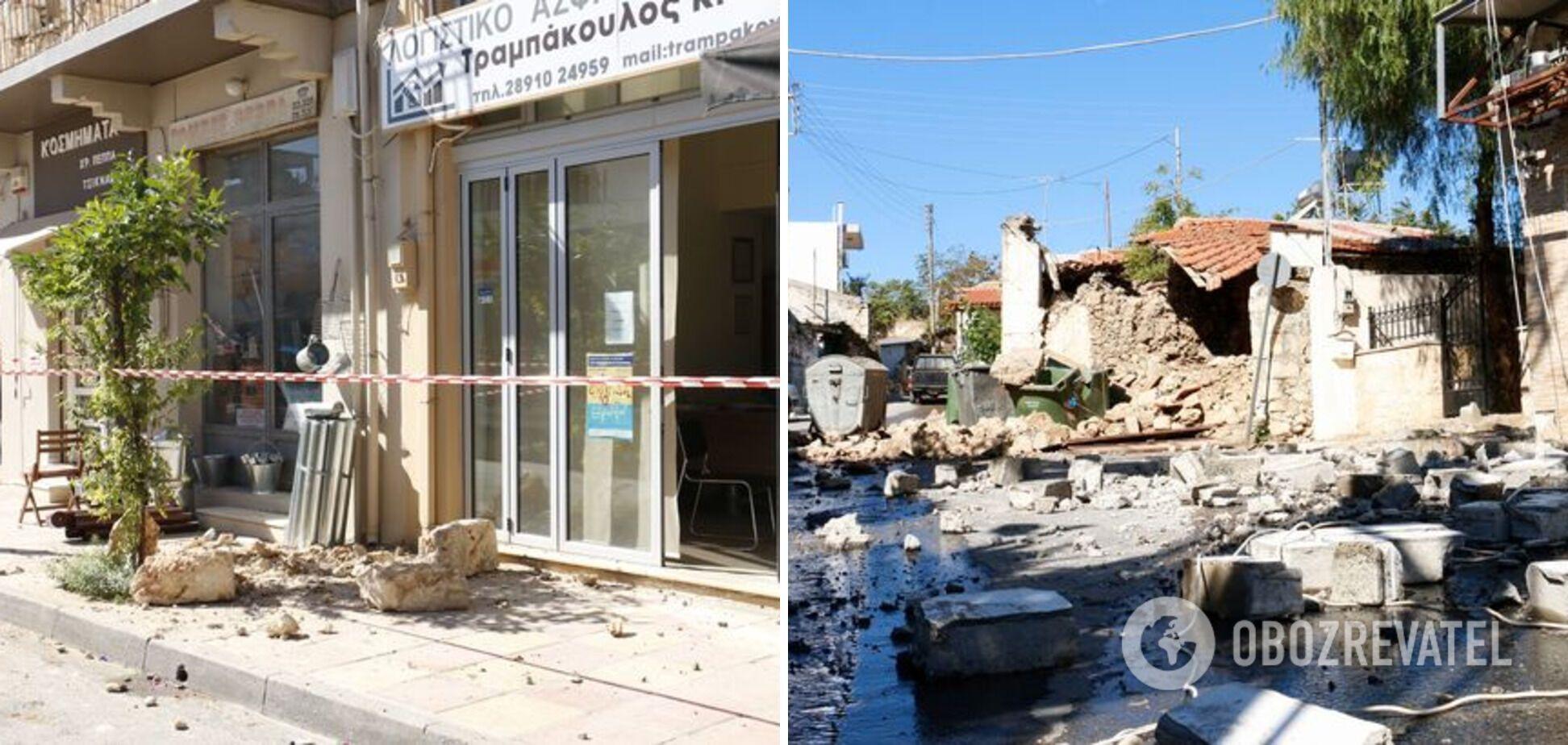 Последствия землетрясений на Крите