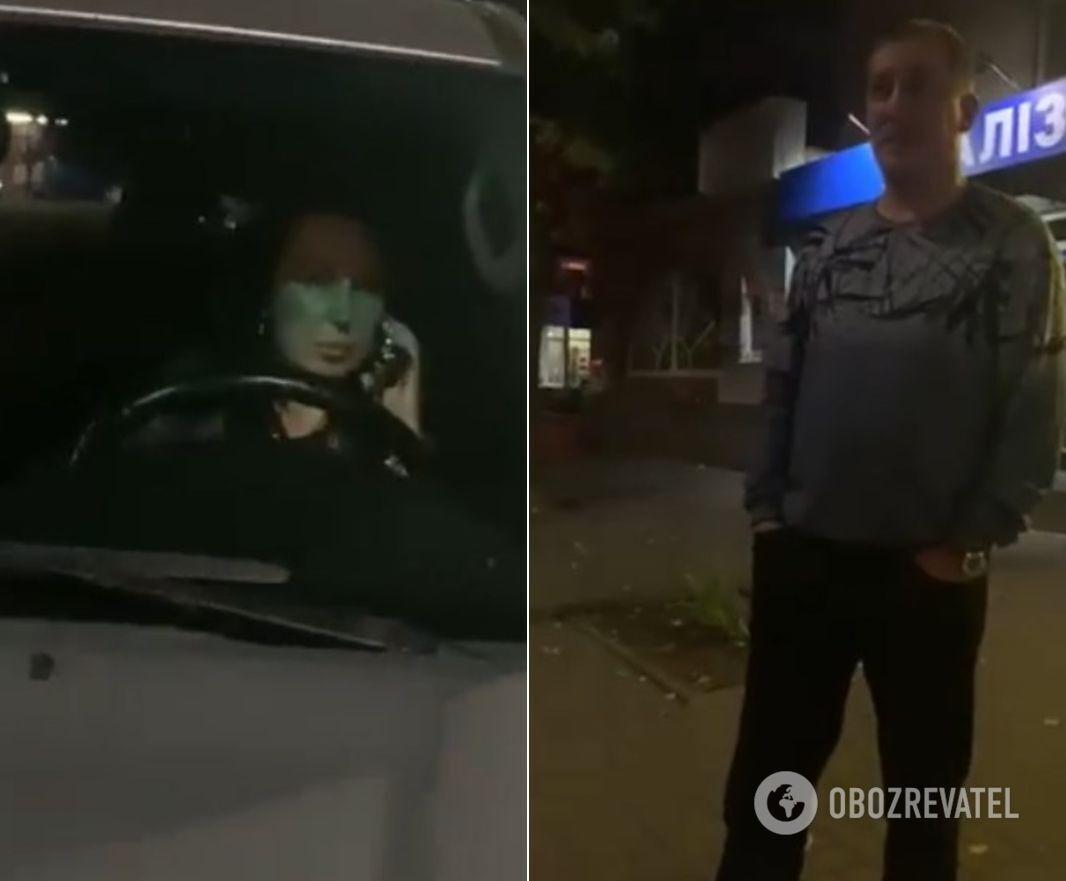 Ольга и Виталий Юрченко после ДТП.