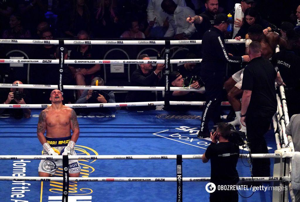 Усик после победы над Джошуа.