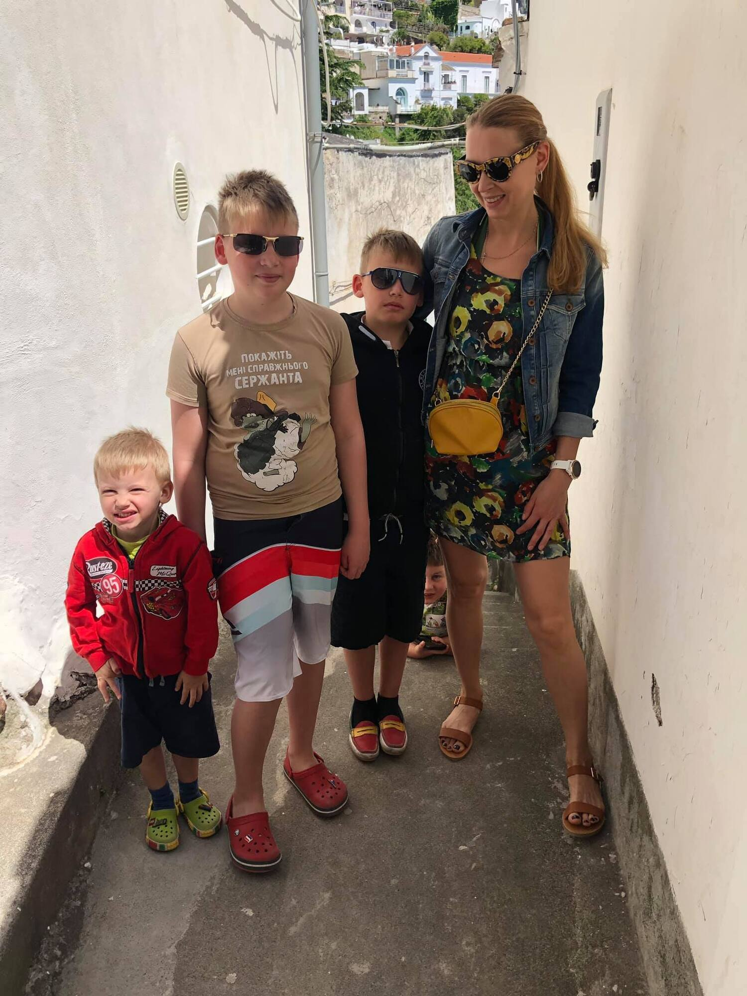 Зоряна Богдан с семьей