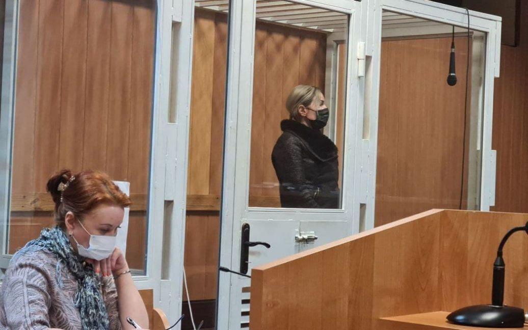 Виктория Рослякова в суде.