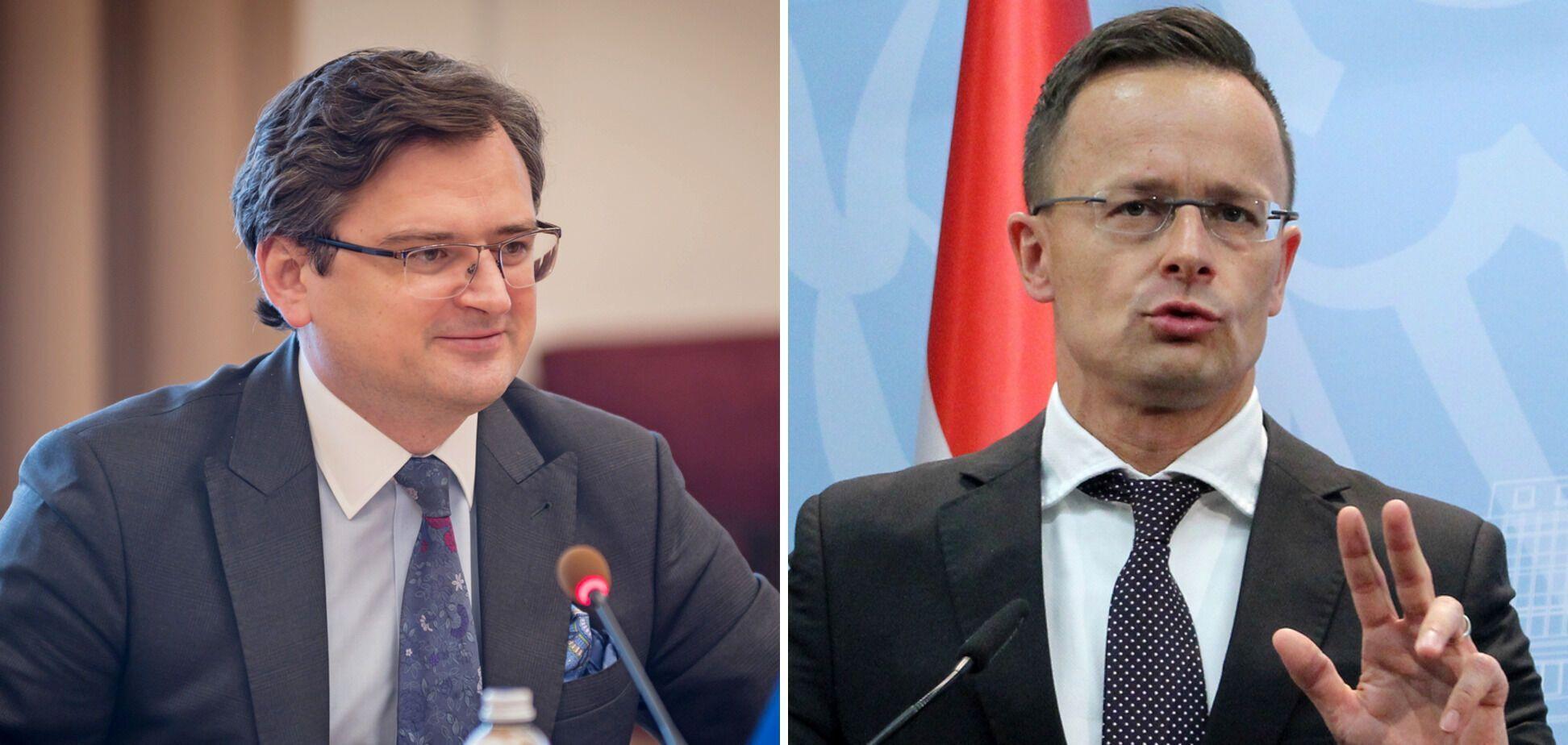 Министры Дмитрий Кулеба и Петер Сийярто