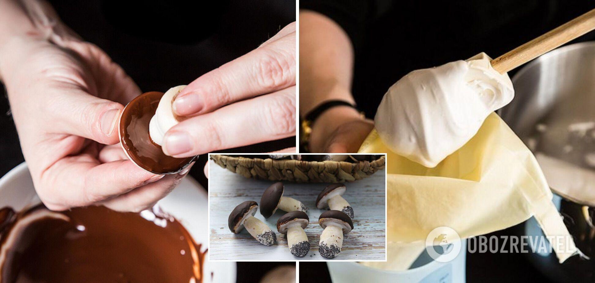 Процесс приготовления десерта