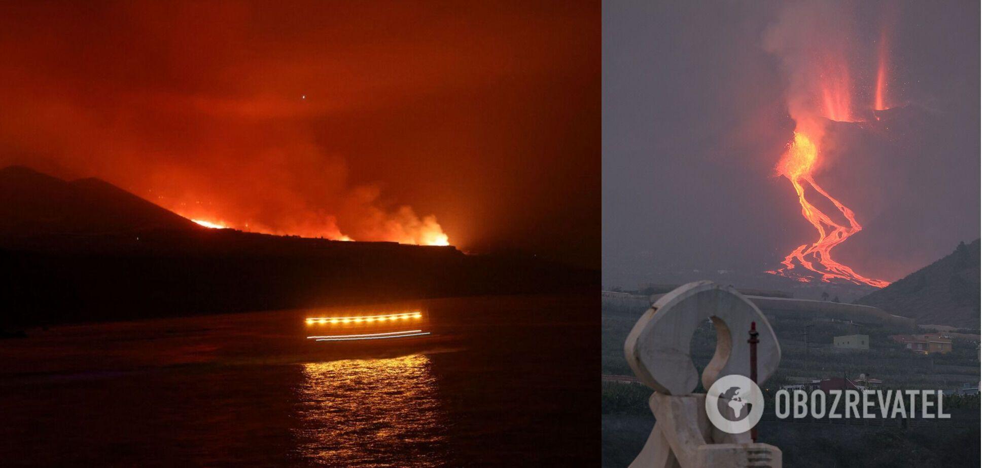 Извержение вулкана на Канарских островах
