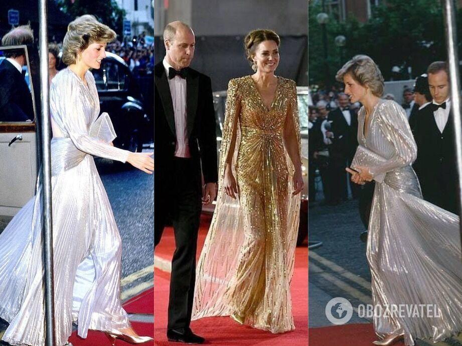 Кейт Миддлтон надела платье, как у принцессы Дианы.