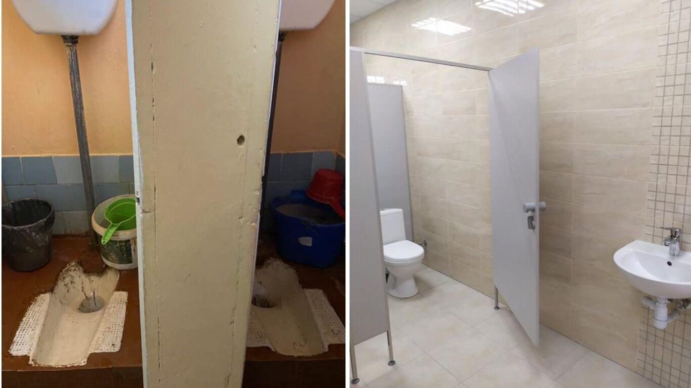 У школі в Лисичанах на Львівщині відремонтували туалети - за понад 500 тис. грн