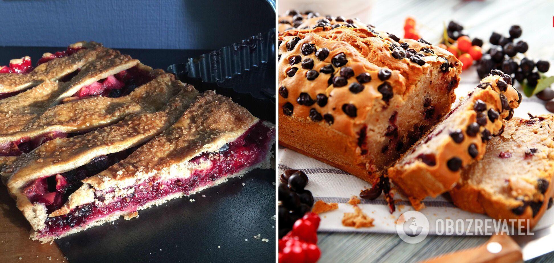 Сирний пиріг з горобиною