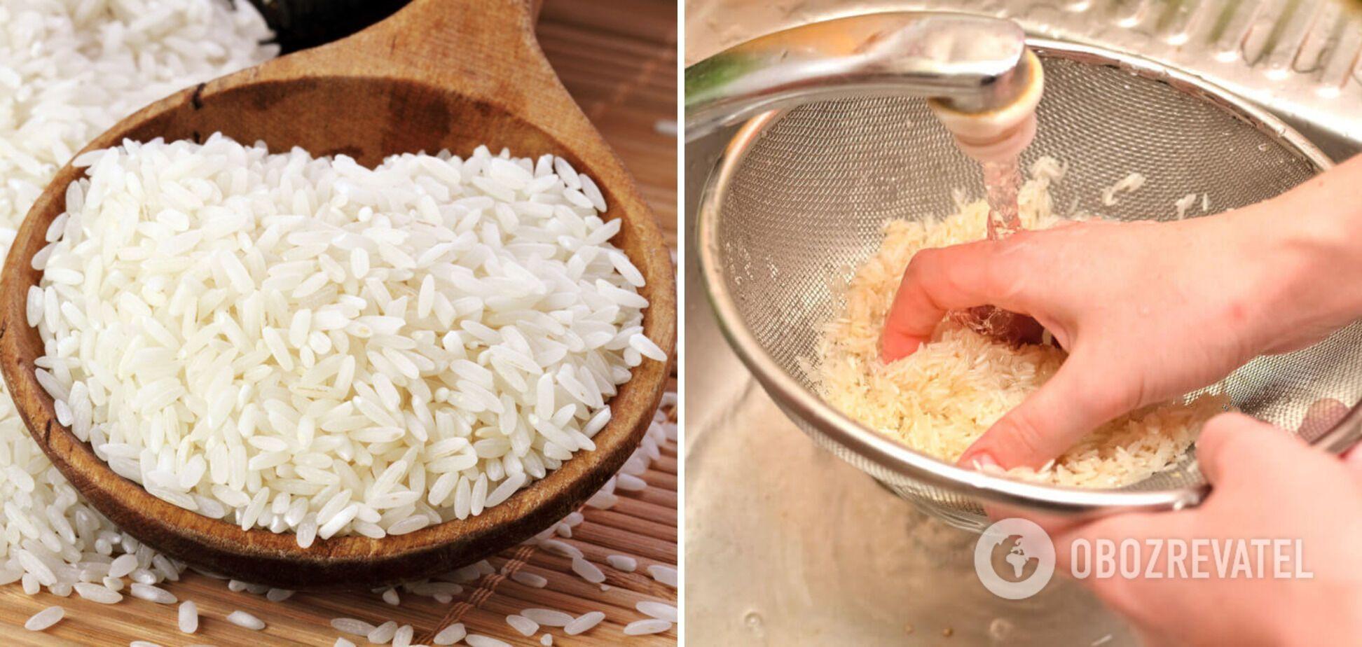 Процес промивання рису