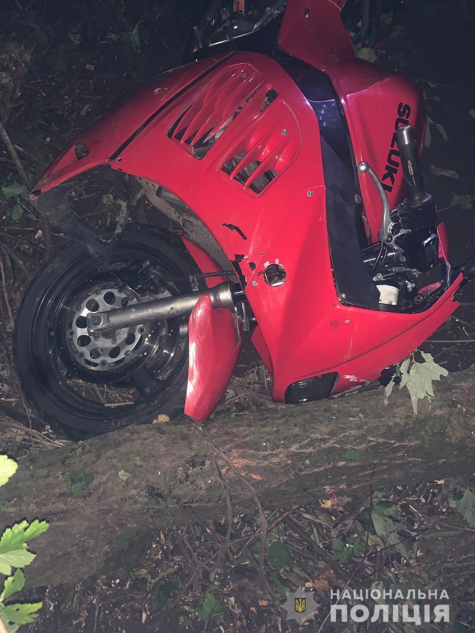 Несовершеннолетний водитель мотоцикла Suzuki умер