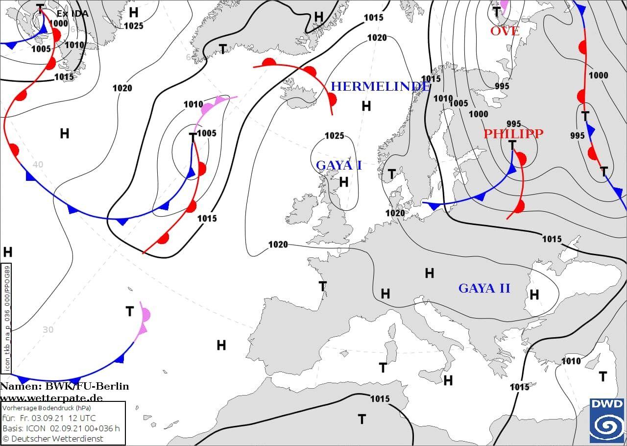 Циклон Philipp визначатиме погоду в Україні 4-5 вересня