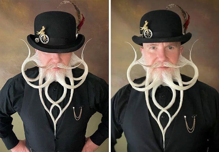 Укладку бороди робили кілька годин