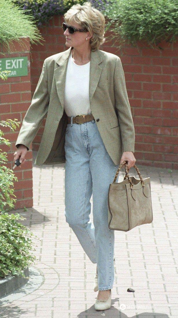 Также принцесса Диана любила носить джинсы с завышенной талией