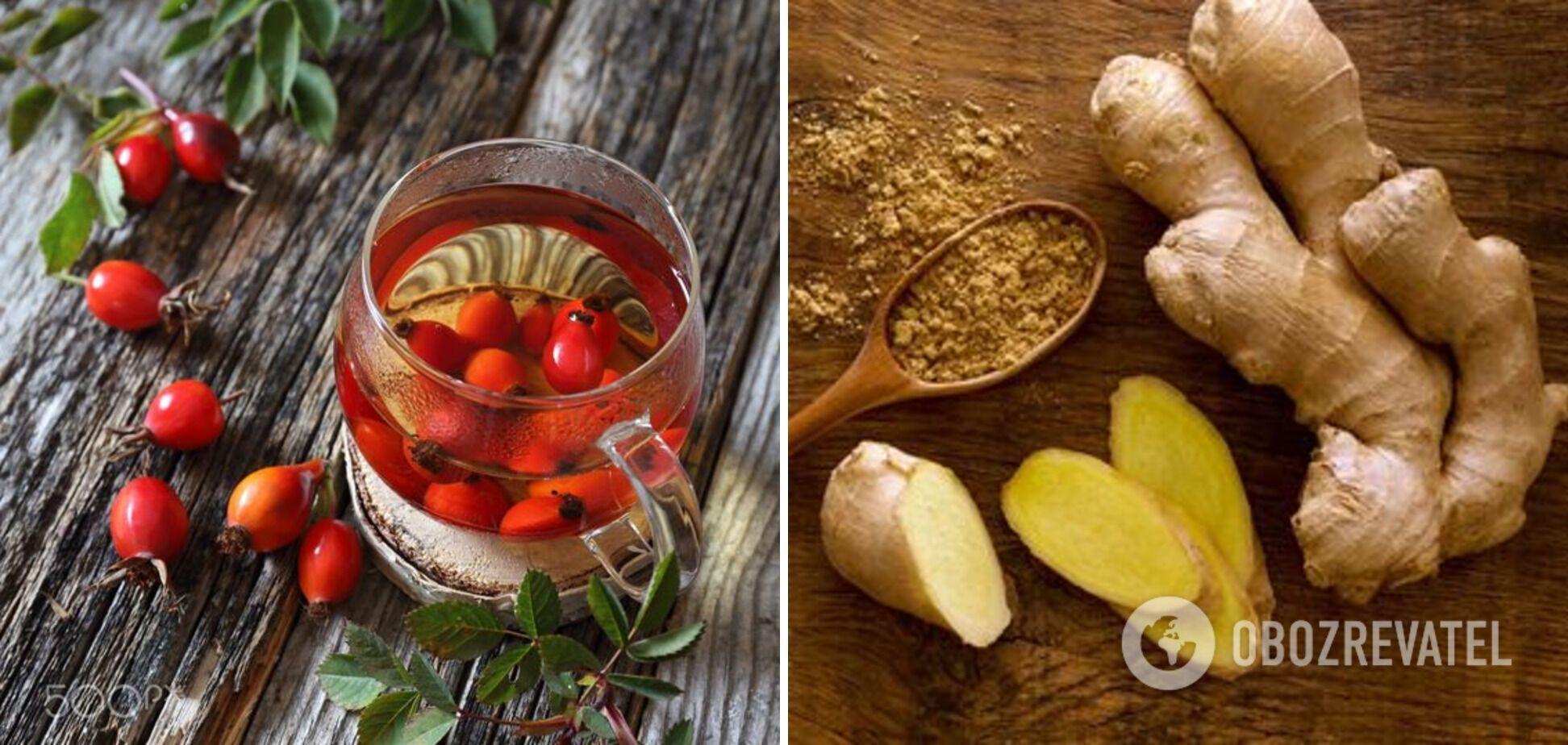 Інгредієнти до чаю – журавлина та імбир