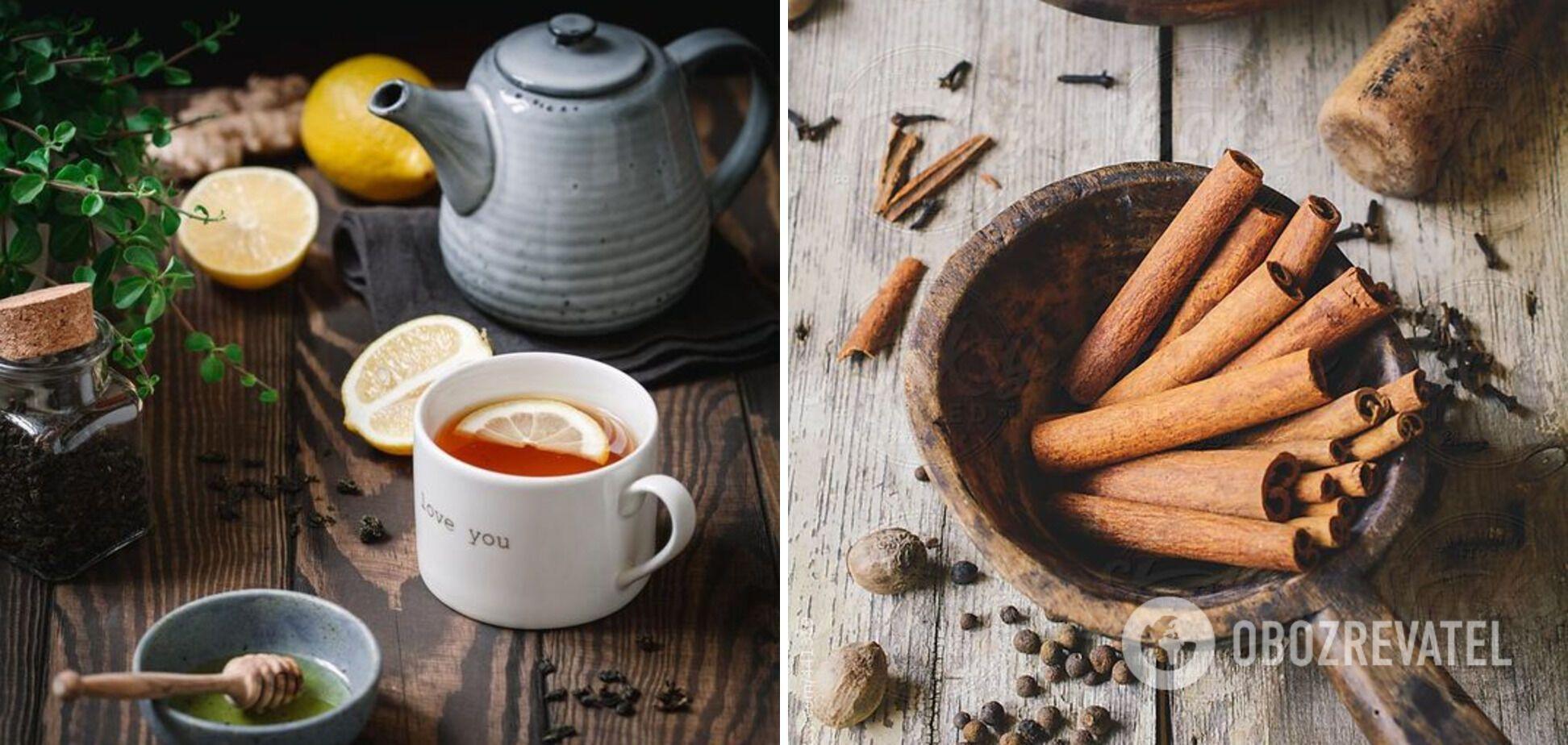 Інгредієнти до чаю – мед та кориця
