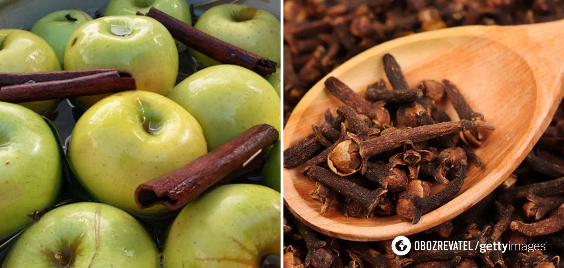 Моченые яблоки со специями