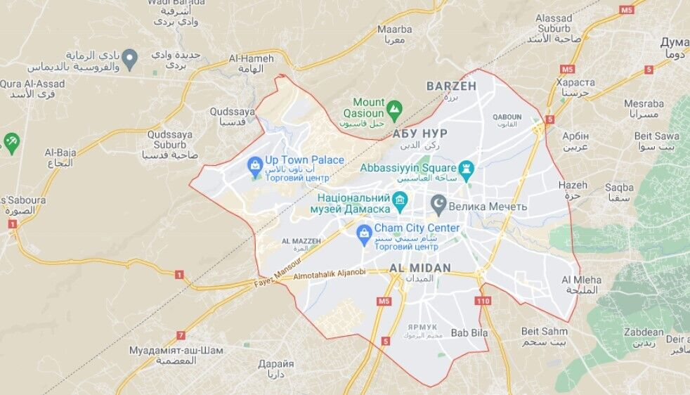 Ізраїль нібито запустив ракети по Дамаску
